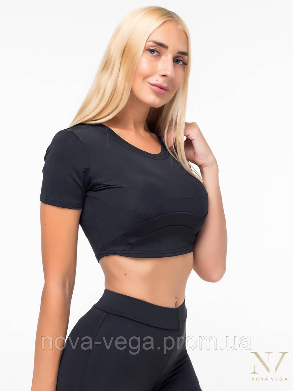 Спортивный Женский Топ Со Вставками Nova Vega Black