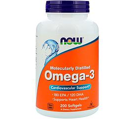 NOW Foods Omega-3 1000 mg 200 Softgels