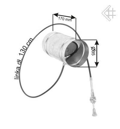 Дроссельная заслонка для регулировки подачи воздуха Ø150, фото 2