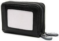Маленькая кожаная визитница для банковских карт 15 шт Приятный на ощупь материал Хорошее качество Код: КГ9972