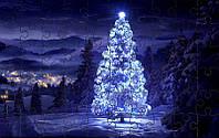 Пазл - Неоновая елка 180х130 мм