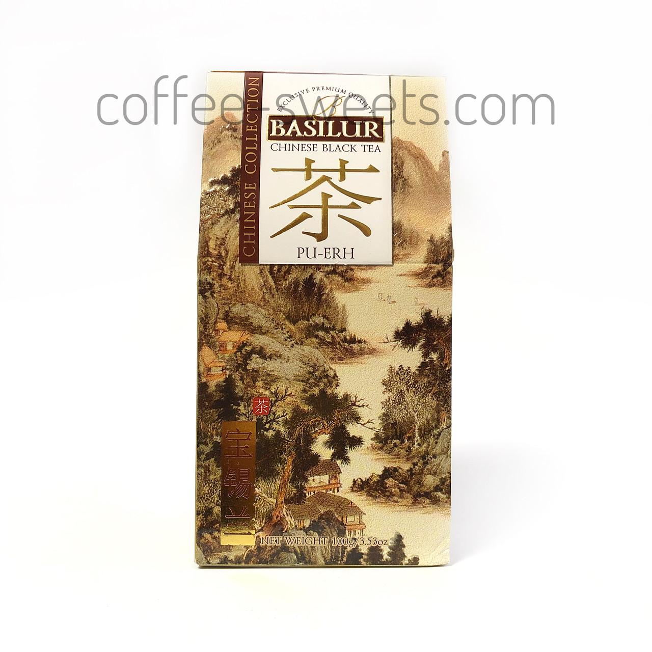 """Чай черный Basilur """"Pu-erh"""" китайский 100g"""