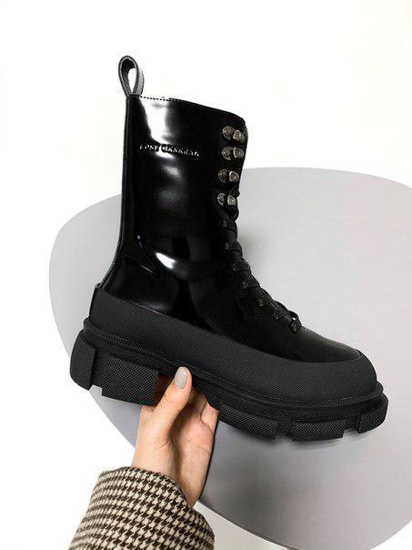 Черные женские ботинки Both x Lost General black FUR