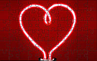 Пазл - Сердце лампочка 180х130 мм