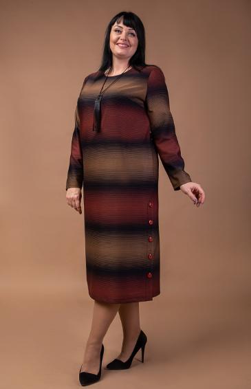Шерстяное женское платье в батальном размере