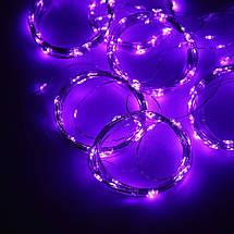 Декор Светодиодная Гирлянда Занавес Штора ЛЕД Фиолетовая 3х3м 300LED От USB 8 Режимов С Пультом ДУ, фото 2
