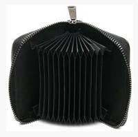 Женская кожаная визитница для банковских карт 14 шт Классический черный цвет Отличный подарок Код: КГ9973