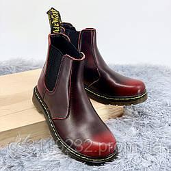 Мужские ботинки Chelsea Red демисезонные (коричневый)