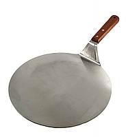Лопатка металл для пиццы О 26 см с дерев. ручкой, фото 1