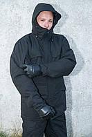 Куртка зимняя с подстежкой синтепон М65 черная