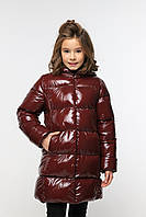 Зимняя куртка лаковая Микель 3, рост 128, 140. Новинка зима, Nui very  Украина