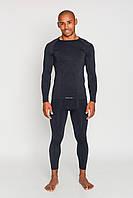 Термобелье мужское спортивное Tervel Comfortline (original), комплект, зональное, бесшовное Черный, XXL