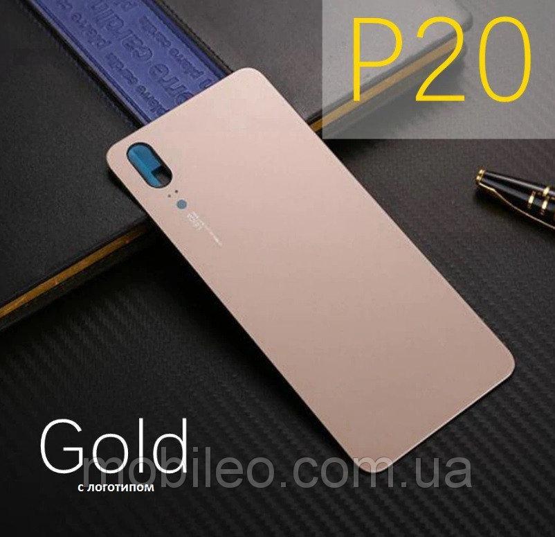 Задняя крышка Huawei P20 золотистая оригинал