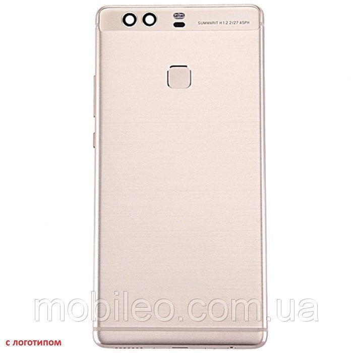 Задняя крышка Huawei P9 Plus VIE- L09 со шлейфом сканера отпечатка пальца, золотистая оригинал
