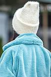 Женская вязаная шапка травка с подворотом (в расцветках), фото 5