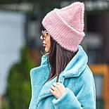 Женская вязаная шапка травка с подворотом (в расцветках), фото 9
