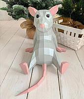 3Д символ 2020 года бумажная крыса.