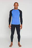 Термобелье мужское спортивное Tervel Comfortline (original), комплект, зональное, бесшовное Черно-синий, XL
