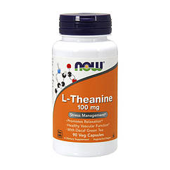 NOW Foods L-Theanine 100 mg 90 Capsules Veg