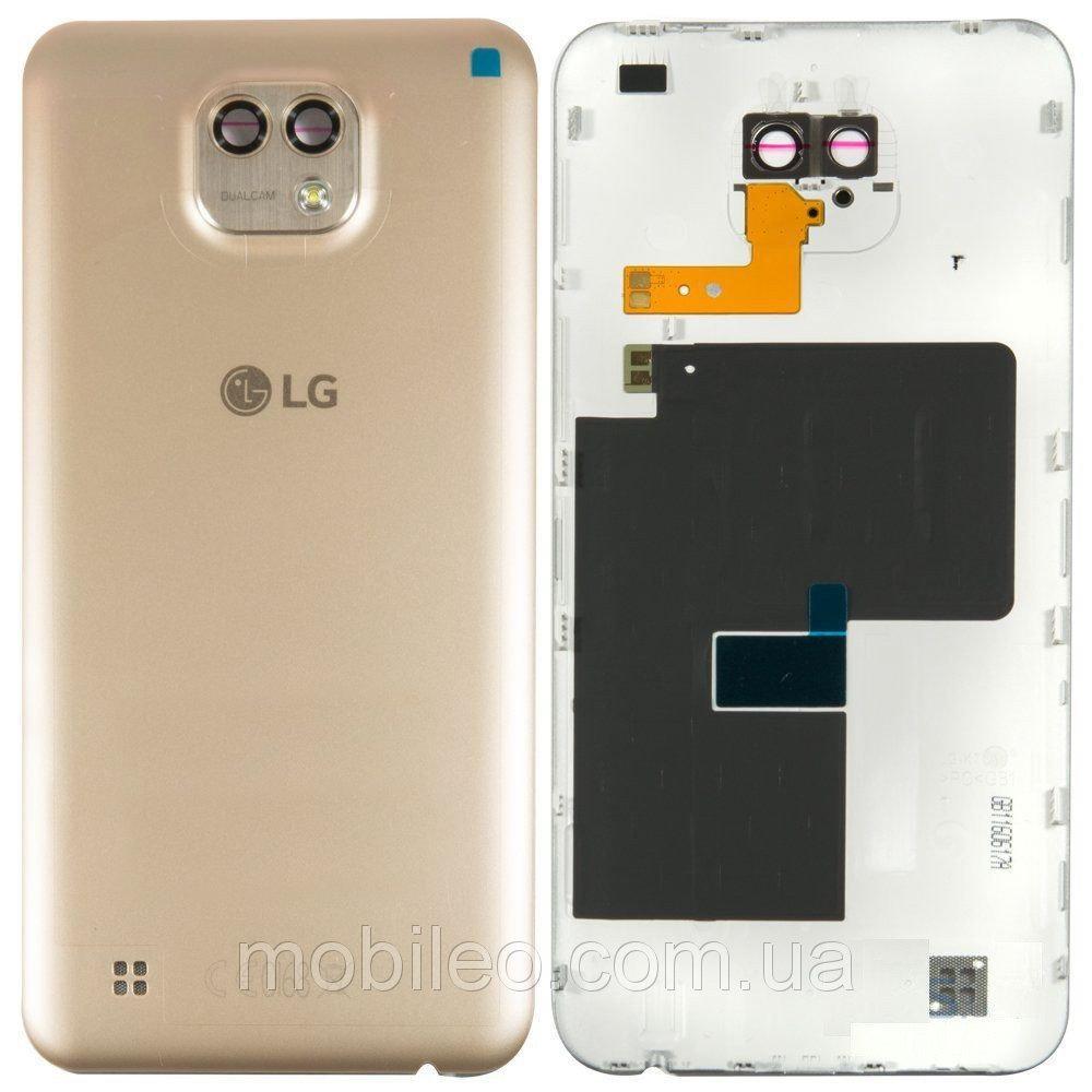 Задняя крышка LG K580 X Cam золотистая оригинал