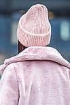 Женская вязаная шапка с люрексом с подворотом (в расцветках), фото 2