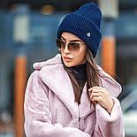Женская вязаная шапка с люрексом с подворотом (в расцветках), фото 7