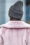 Женская вязаная шапка с люрексом с подворотом (в расцветках), фото 8