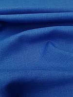 Льняная костюмная ткань синего цвета
