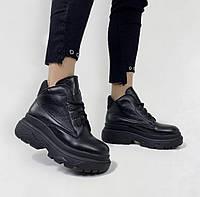 Женские ботиночки зимние черные