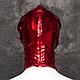 Маска виниловая черная BDSM с прорезями для глаз, фото 6