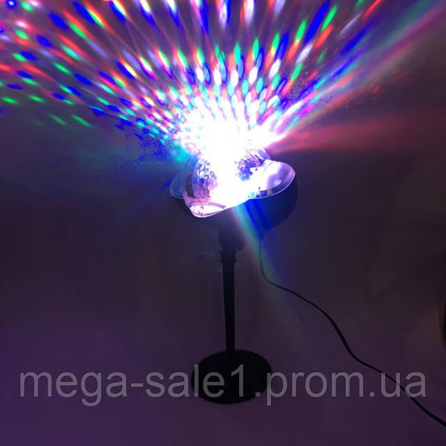 Светодиодный прожектор лазер новогодний Диско LASER 808 Уличный IP 65