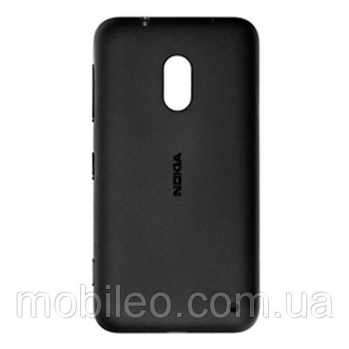 Задняя крышка Nokia 620 Lumia чёрная оригинал
