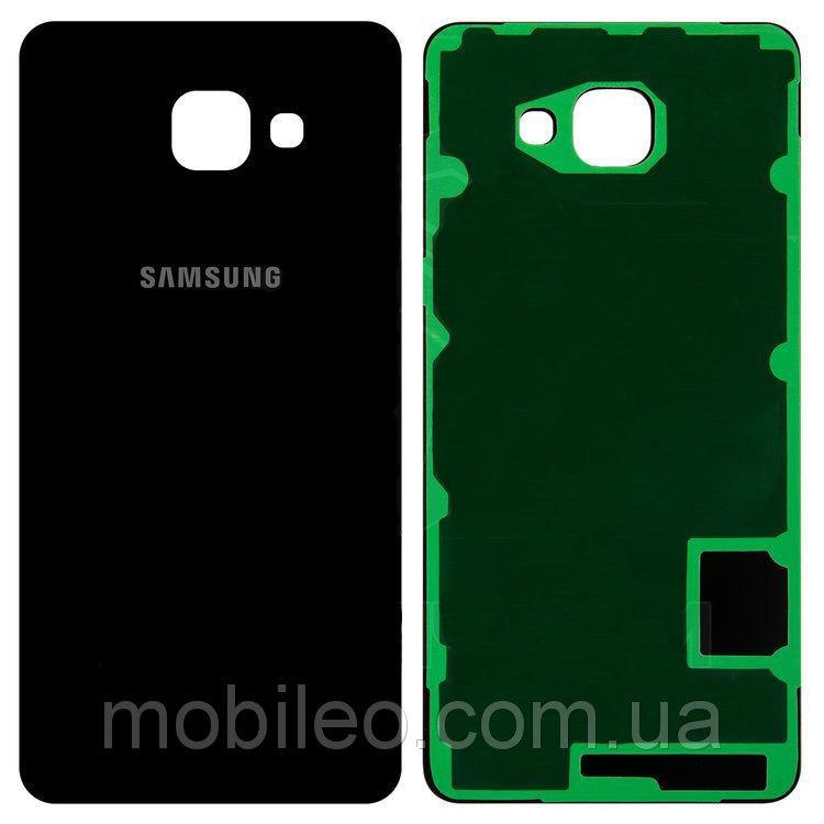 Задняя крышка Samsung A710F Galaxy 7 (2016) чёрная ориг. к-во