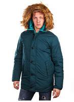 Куртка-Пуховик чоловіча темно-зелена М «Zuelements» (Італія)