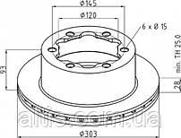 9064230112 / Тормозной диск Ø303x93x28 MERCEDES-BENZ LT [Crafter], Sprinter, SPRINTER II