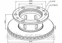 1904532 / Тормозной диск Ø315x118,5x26 IVECO Zeta
