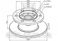 1904529 / Тормозной диск Ø267x111,4x14,2 IVECO Daily