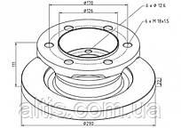 1908772 / Тормозной диск Ø290x111x22 IVECO Daily