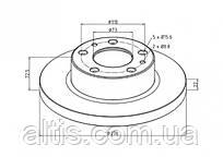 500306590 / Тормозной диск Ø276x72,5x22 IVECO Daily
