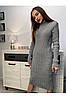 Женское вязаное платье миди с высокой горловиной /разные цвета, 44-48, PF-3113/, фото 5
