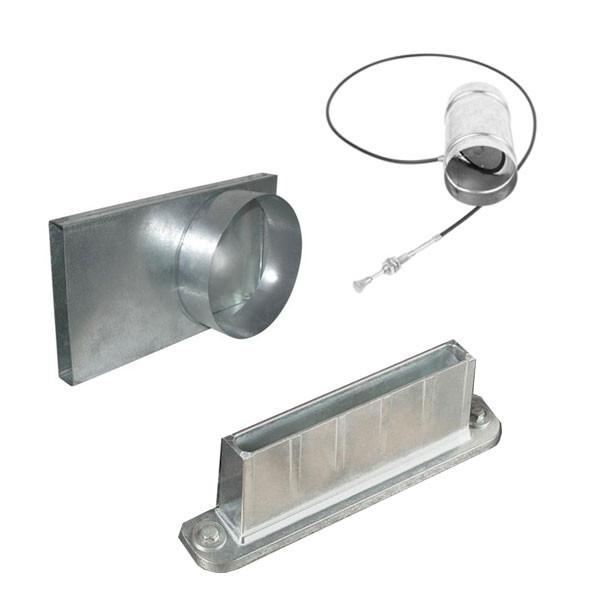 Комплект подачи воздуха для каминных топок KRATKI с переходником Ø100