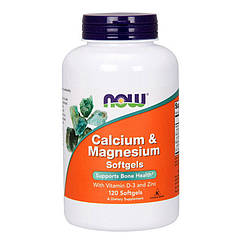 NOW Foods Calcium & Magnesium 120 Softgels