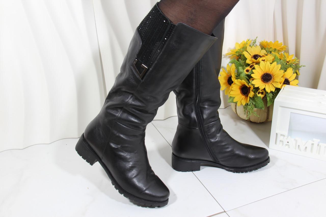 Кожаные женские сапоги Sanborina M1434