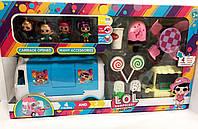 Игровой набор Лол автобус, 4 куклы, мебель, сладости, тележка