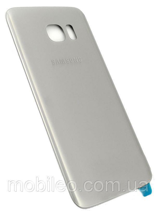 Задняя крышка Samsung G935 Galaxy S7 Edge серебристая ориг. к-во