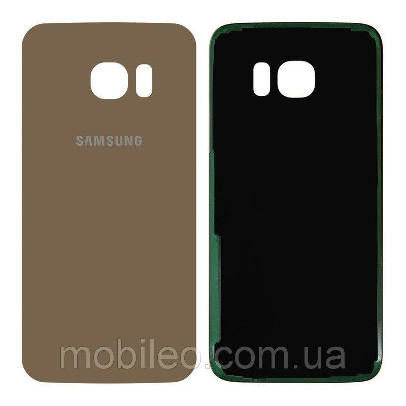 Задняя крышка Samsung G935F Galaxy S7 Edge золотистая оригинал