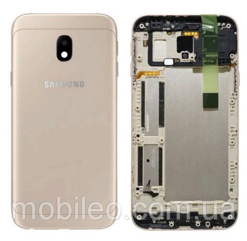 Задняя крышка Samsung J330F Galaxy J3 (2017) золотистая