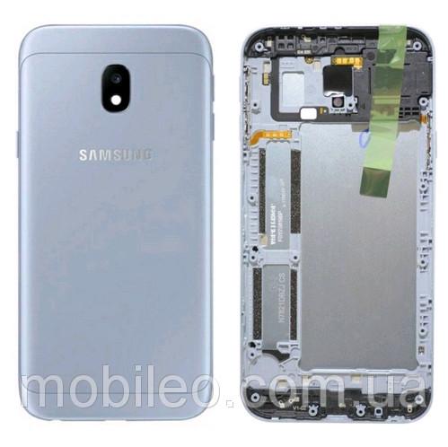 Задняя крышка Samsung J330F Galaxy J3 (2017) синяя