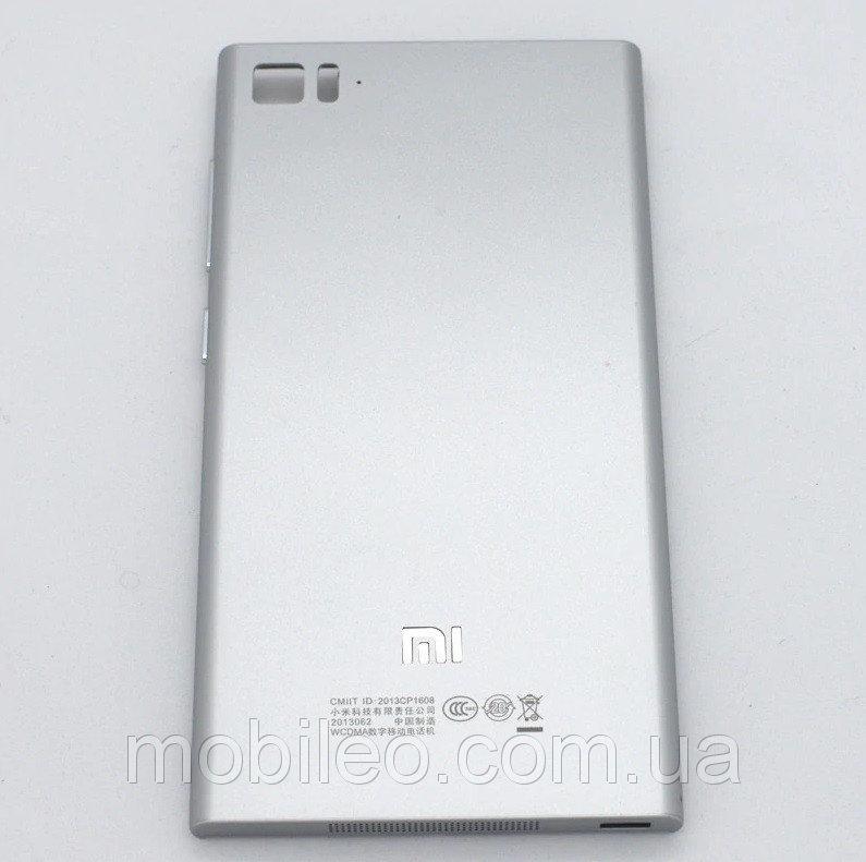Задняя крышка Xiaomi Mi3 серая