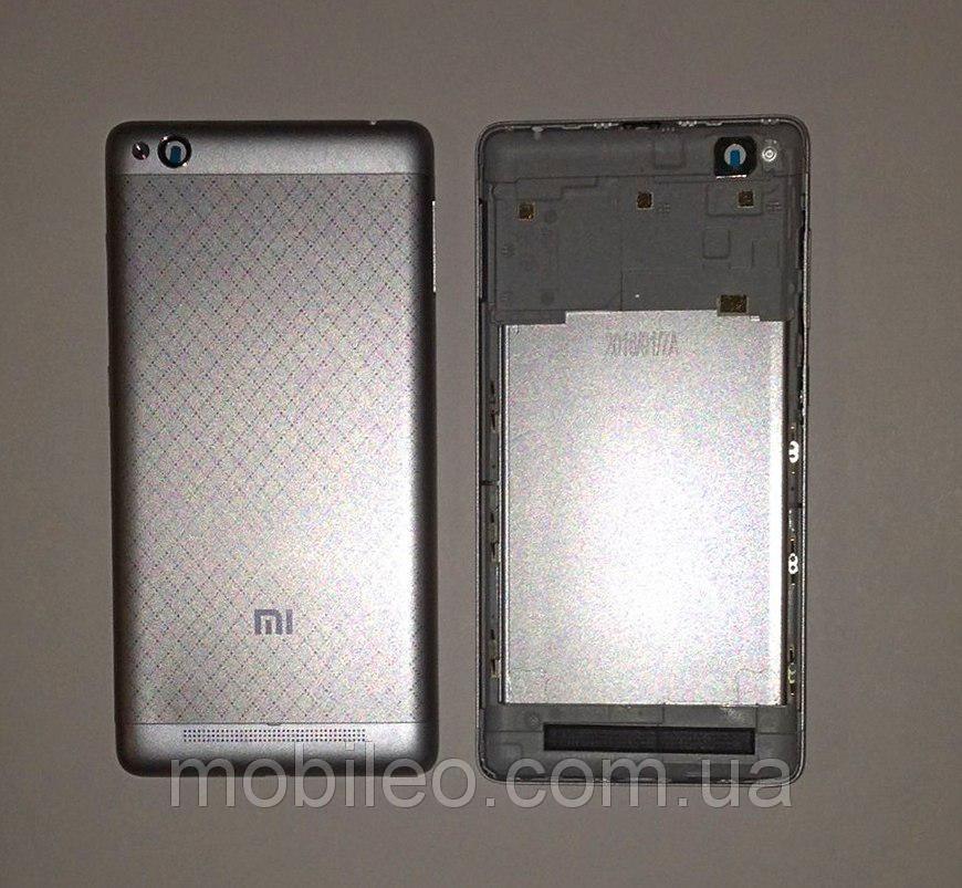 Задняя крышка Xiaomi Redmi 3 серая ориг. к-во